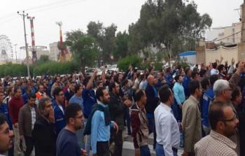 اعتراضات کارگران گروه ملی صنعتی فولاد همچنان ادامه دارد