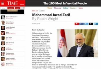 محمدجواد ظریف در بین 100 چهره تاثیرگذار مجله تایم
