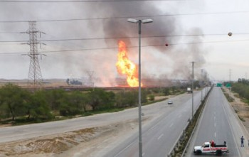 چندین نفر در انفجار خط لوله گاز برومی اهواز کشته و زخمی شدند