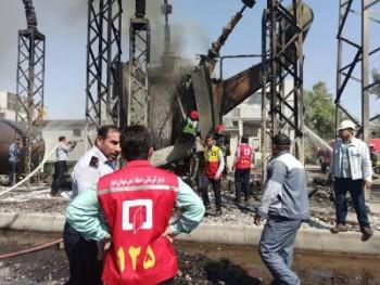 آتشسوزی نیروگاه زرگان اهواز مهار شد