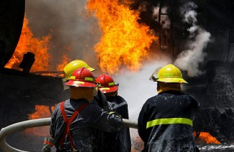 بعد از پلاسکو ساختمان ۷ طبقه مرتضیگرد بر اثر آتش سوزی فروریخت