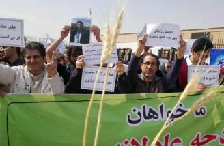 تجمع اعتراضی معلمان شاغل و بازنشسته در سراسر کشور