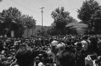 تجمع دانشجویان دانشگاه تهران به تنش کشیده شد