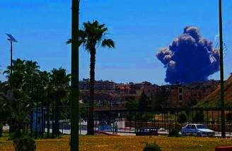 وقوع چندین انفجار شدید در اطراف فرودگاه نظامی حماه سوریه