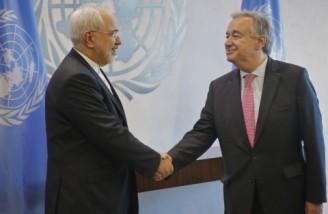 محمد جواد ظریف با دبیرکل سازمان ملل متحد دیدار کرد