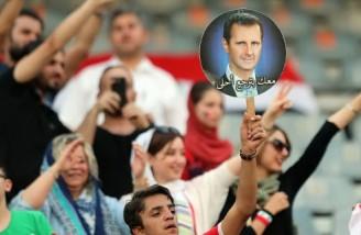 زنان و دختران سوری در ورزشگاه آزادی