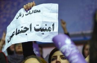 حضور پرتعداد بانوان کرمانشاهی در همایش حسن روحانی