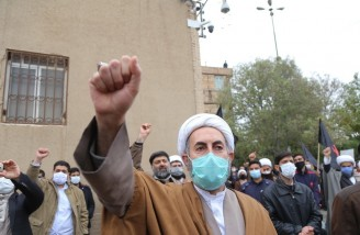 تجمع اعتراضی طلاب قم در پی ترور شهید فخری زاده