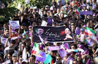 همایش انتخاباتی حسن روحانی در نقش جهان