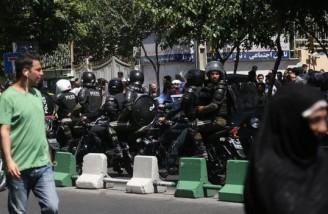 تدابیر امنیتی در اطراف مجلس شورای اسلامی