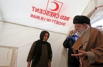 بازدید ِ سرزده رهبر انقلاب از مناطق زلزله زده کرمانشاه