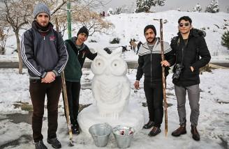 مجسمه هایی از جنس ِ برف