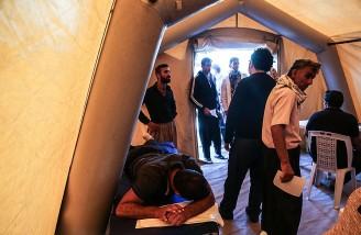 بیمارستان های سرپایی احداث شده در زلزله غرب ایران