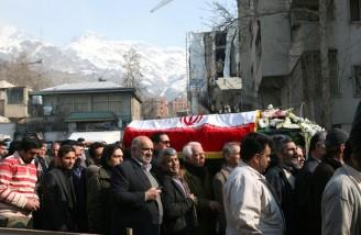 مراسم تشییع سید صادق طباطبایی از حسینیه جماران