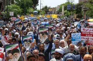 راهپیمایی نمازگزاران قم در حمایت از بیانیه شورای عالی امنیت