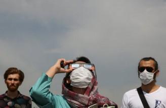 نمای آخرین خورشید گرفتگی قرن ۱۴ هجری شمسی در ایران