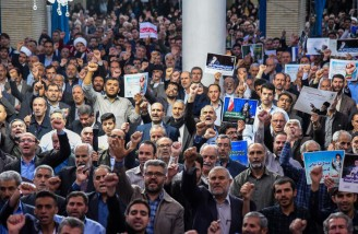 راهپیمایی نمازگزاران ارومیه در حمایت از بیانیه شورای عالی امنیت