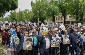 راهپیمایی نمازگزاران شهرکرد در حمایت از بیانیه شورای عالی امنیت