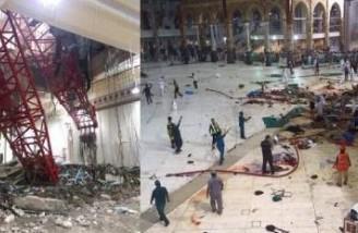 عربستان سقوط جرثقیل در مکه را یک بلای آسمانی خواند