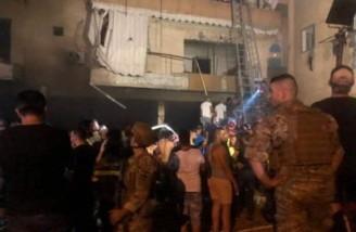 یک انبار مازوت در بیروت منفجر شد