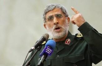 فرمانده سپاه قدس از پاسخ کوبنده مقاومت به اسرائیل تجلیل کرد